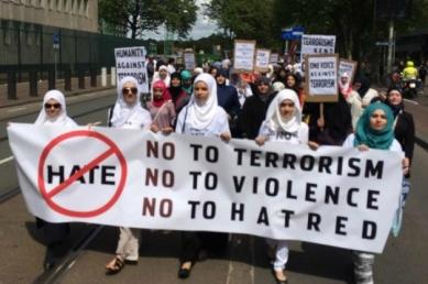 Muslim protest against terrorist activities